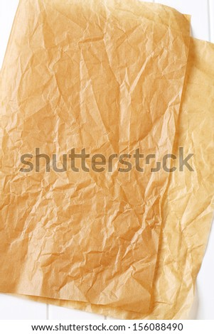 Parchment for baking culinary and confectionery products as natural background - stock photo