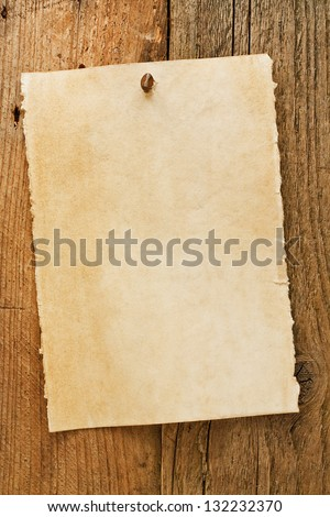 Parchment paper notice sign similar to the grungy cowboy wanted posters often used to symbolise the wild west of america - stock photo