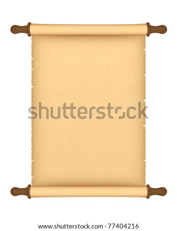 parchment roll. Vector available. - stock photo