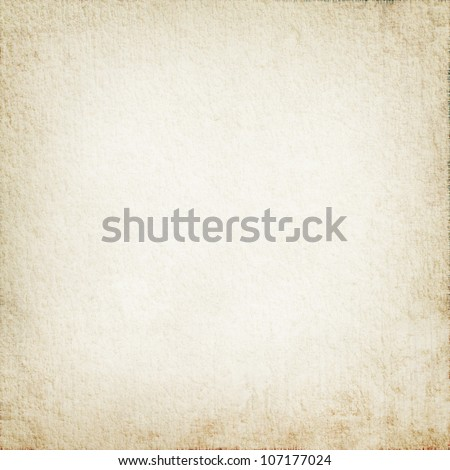 parchment texture as white grunge background with delicate vignette - stock photo