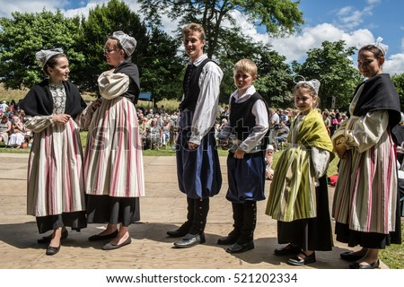 Pardon (religious festival)  in Brittany, France. A Pardon is a typically Breton form of pilgrimage and one of the most traditional demonstrations of popular Catholicism in Brittany, July 31, 2016.