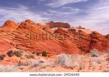 Paria Canyon - Coyote Buttes - Wave - Vermilion Cliffs - stock photo