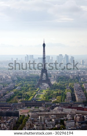 Paris aerial view from Montparnasse tower