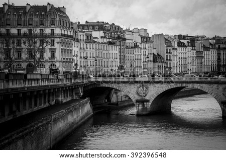 Paris architecture - stock photo