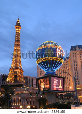 Paris at Dusk-Las Vegas