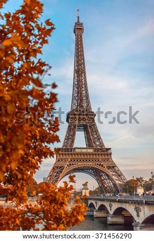 Paris Autumn - stock photo