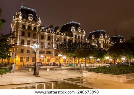 Paris by night - stock photo