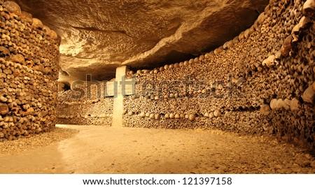 Paris Catacombs - stock photo