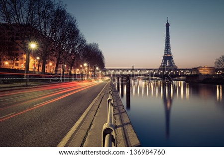 Paris, Eiffel tower - stock photo