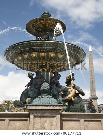 Paris - fountain from Place de la Concorde