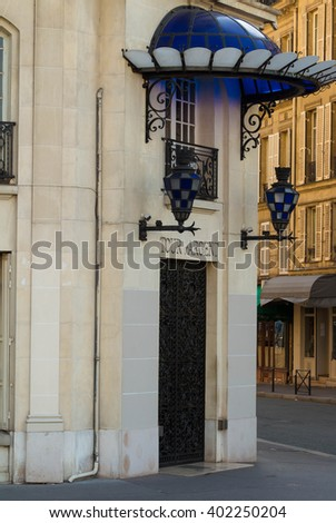 Paris, France-April 4, 2016:The famous restaurant Tour d'Argent located 15 quay de la Tournelle in Paris.It is world famous for its cuisine and vast wine cellar currently holding some 400,000 bottles.