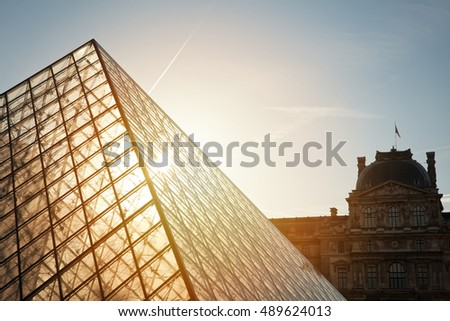 Paris, France, August 14, 2016  - Louvre Museum. Louvre Museum is one of the largest and most visited museums worldwide.
