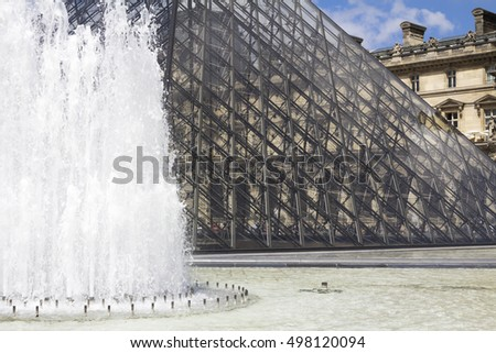 PARIS, FRANCE - August 6, 2016: The Louvre Museum is one of the world's largest museums and the most popular tourist destinations in France