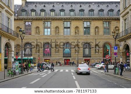 PARIS FRANCE 20 DEC 2017 View Stock Photo (Royalty Free) 781197133 on