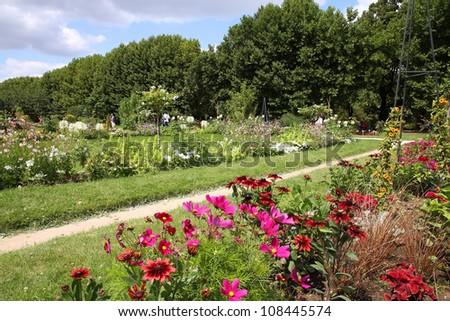 Paris, France. Garden of Plants (Jardin des Plantes). - stock photo
