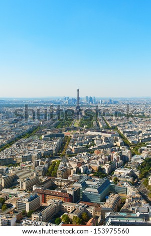Paris, France in hot summer day.