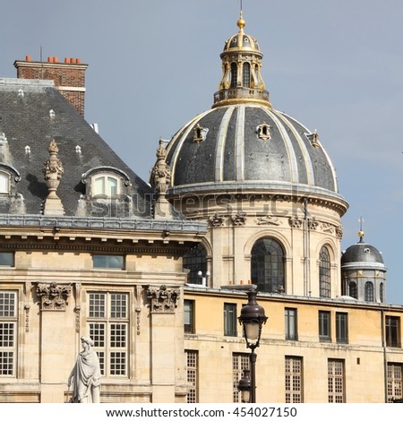 Paris, France - Institut de France (French Learned Society). Old landmark.