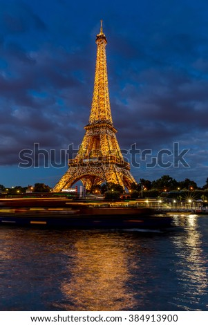 Paris, France, July 26.2015-Eiffel Tower in Paris