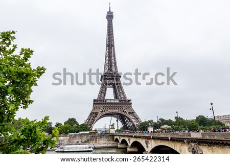 Paris, France-July 09, Eiffel tower, July 09.2014 in Paris - stock photo