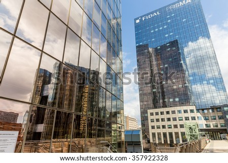 Paris, France-July 24, La Defense business district in Paris, July 24.2015 in Paris