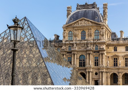 Paris, France - July 23, Louvre museum in Paris, July 23, 2015 in Paris - stock photo
