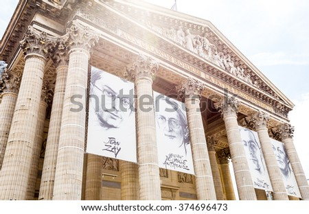 Paris, France, July 21.2015: Pantheon in Paris