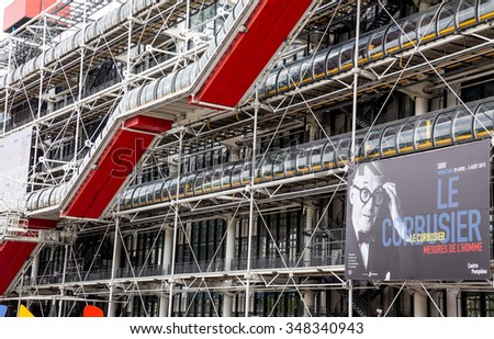 Paris, France-July 22, the Centre Pompidou in Paris, July 22.2015 in Paris