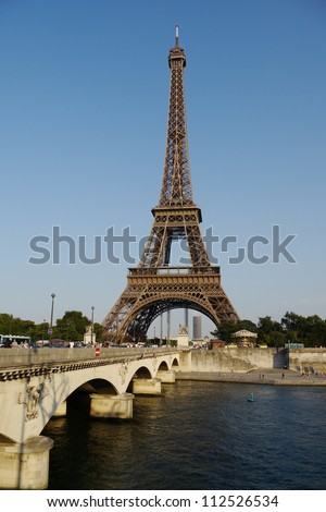 PARIS, FRANCE, 20 July 2012 : The Eiffel tower in Paris is the biggest tourist attraction in France