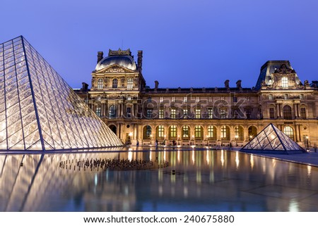 Paris, France-July 12, the Louvre Museum in Paris July 12.2014