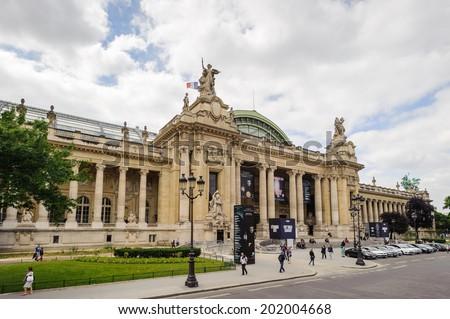 PARIS, FRANCE - JUN 17, 2014: Grand Palais (Great Palace) in Paris, France. Grand palais has more than 1.5 mln visitors per year - stock photo