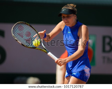 PARIS, FRANCE - JUNE 1 : Marketa Vondrousova at the 2017 Roland Garros Grand Slam tennis tournament