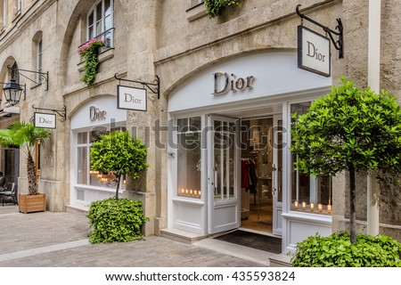 PARIS, FRANCE - JUNE 1, 2015: View of Royal Village. Royal Village located near Madeleine in 8th district. This passage (renovation 1992) is very charming and filled with luxury shops.