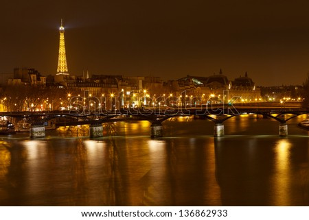 PARIS, FRANCE - MARCH 7: view of Pont Neuf in Paris on March 7, 2013. Pont Neuf is the oldest standing bridge across the river Seine and first stone in bridge construction was laid in 1578