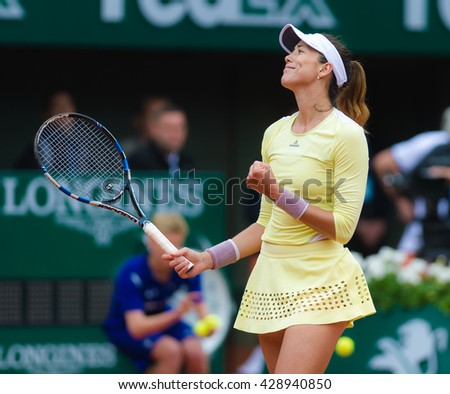 PARIS, FRANCE - MAY 29 : Garbine Muguruza in action at the 2016 French Open