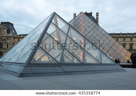 PARIS, FRANCE - MAY 07, 2015: The most visited museum in the world, Louvre in Paris, France