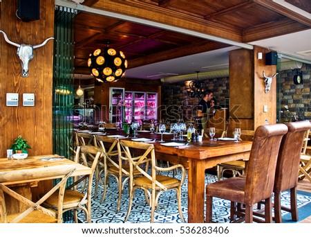 Paris, France   22 November 2016   The Interior Design Of A Seafood  Restaurant And