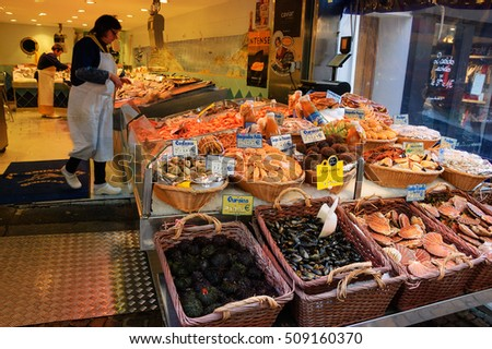 Fenghuang china 8 august 2013 outdoor stock photo for Fresh fish store