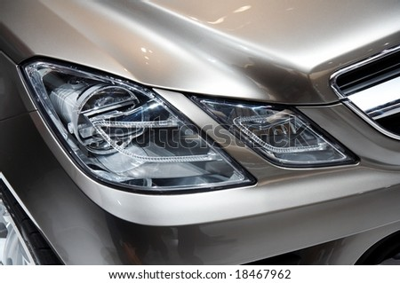 PARIS, FRANCE - OCTOBER 02: Paris Motor Show 2008, Mercedes-Benz Fascination Concept, front light detail - stock photo