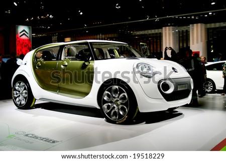 PARIS, FRANCE - OCTOBER 4: Paris Motor Show on October 4, 2008, showing the Citroen C-Cactus Concept Car - stock photo