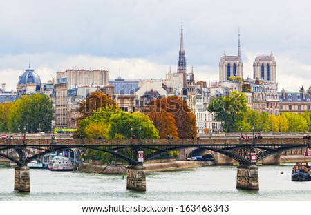 PARIS, FRANCE - OCTOBER 02: Seine Embankment in Paris, France, October 02,2012. Paris - the capital of France, the most important economic and cultural center of the country