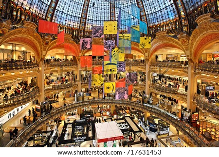 paris france october 13 2016 galeries stock photo image royalty