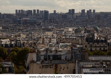 PARIS, FRANCE, on OCTOBER 1, 2016. Montmartre. People look at view of the city from the survey platform