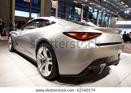 PARIS, FRANCE - SEPTEMBER 30: Lotus Elite at Paris Motor Show on September 30, 2010 in Paris
