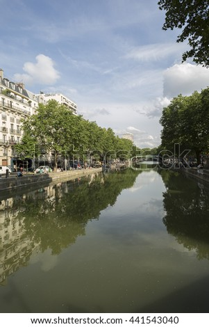 PARIS, FRANCE  01-07-2013  The Canal Saint Martin
