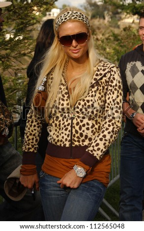 """Paris Hilton at Samsung and Sprint """"The Upstage"""" Country Club. Private Location, Beverly Hills, CA. 04-15-07 - stock photo"""