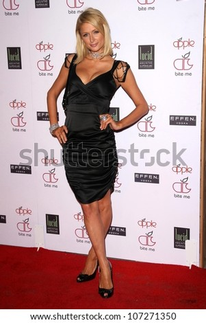 Paris Hilton  at the Grand Opening of the Apple Lounge. Apple Lounge, West Hollywood, CA. 08-14-08 - stock photo