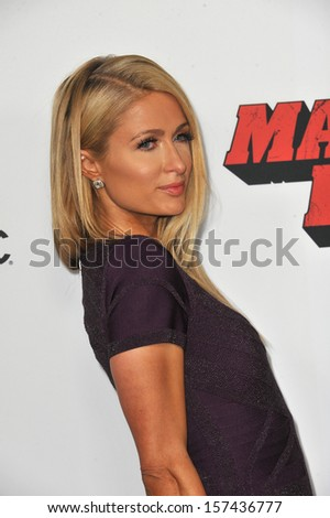 "Paris Hilton at the Los Angeles premiere of ""Machete Kills"" at the Regal Cinemas LA Live. October 2, 2013  Los Angeles, CA"