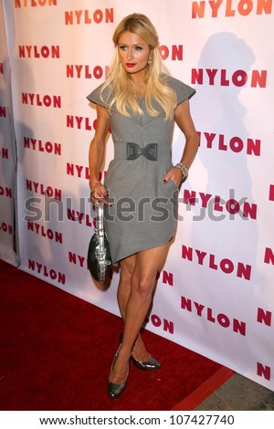 Paris Hilton at the NYLON Magazine Party Celebrating the Launch of their TV issue. The Roosevelt Hotel, Hollywood, CA. 09-04-08