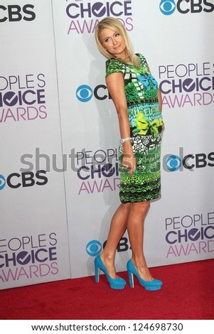 Paris Hilton at the 2013 People's Choice Awards Arrivals, Nokia Theater, Los Angeles, CA 01-09-13