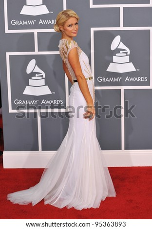 Paris Hilton at the 54th Annual Grammy Awards at the Staples Centre, Los Angeles. February 12, 2012  Los Angeles, CA Picture: Paul Smith / Featureflash